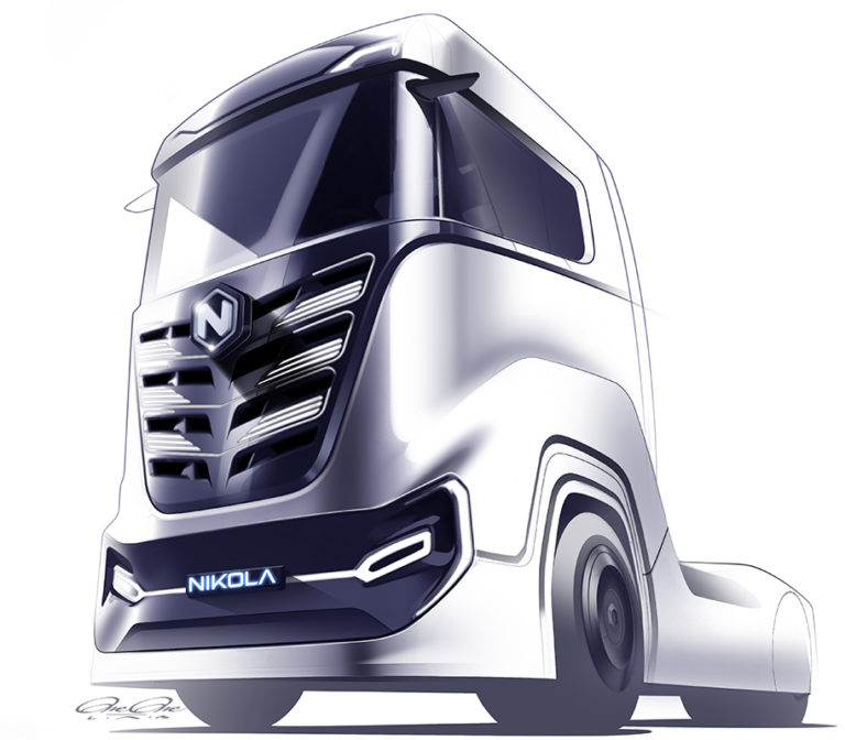 Nikola Tre Concept Design Sketch
