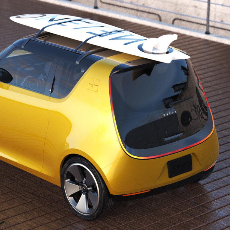 Zacua Concept EV Car Design